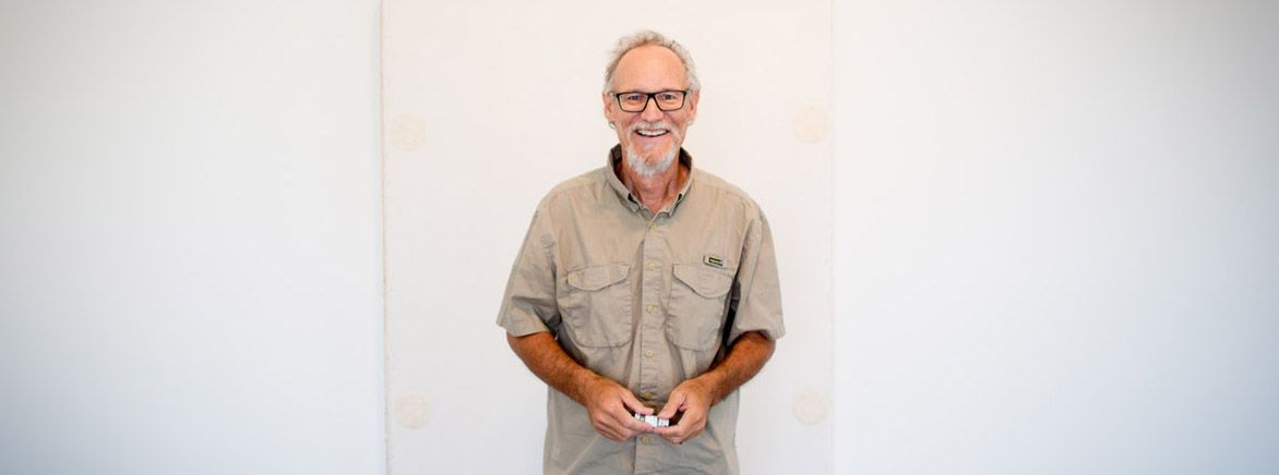 Photo editor Guy Reynolds in 2016, not long after he was diagnosed with cancer.