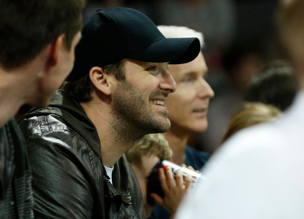Dallas Cowboys quarterback Tony Romo watches a game between the Southern Methodist Mustangs and Cincinnati Bearcats during the second half of play at Moody Coliseum in Dallas, on Sunday, February 12, 2017. SMU defeated Cincinnati Bearcats 60-51. (Vernon Bryant/The Dallas Morning News)