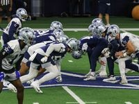 Cowboys' practice at the Ford Center in Frisco on Wednesday, October 27, 2021. (Lola Gomez/The Dallas Morning News)