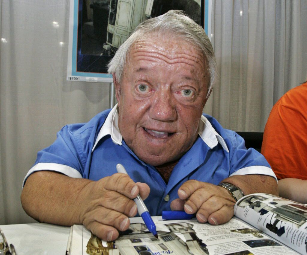 Actor Kenny Baker portrayed the R2-D2 in the first Star Wars movie.