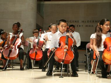 The Dallas Symphony Orchestra's Young Strings program is celebrating its 20th anniversary this year. It was founded to provide stringed instruments and music lessons to underserved minority populations – and to encourage them to become musicians.
