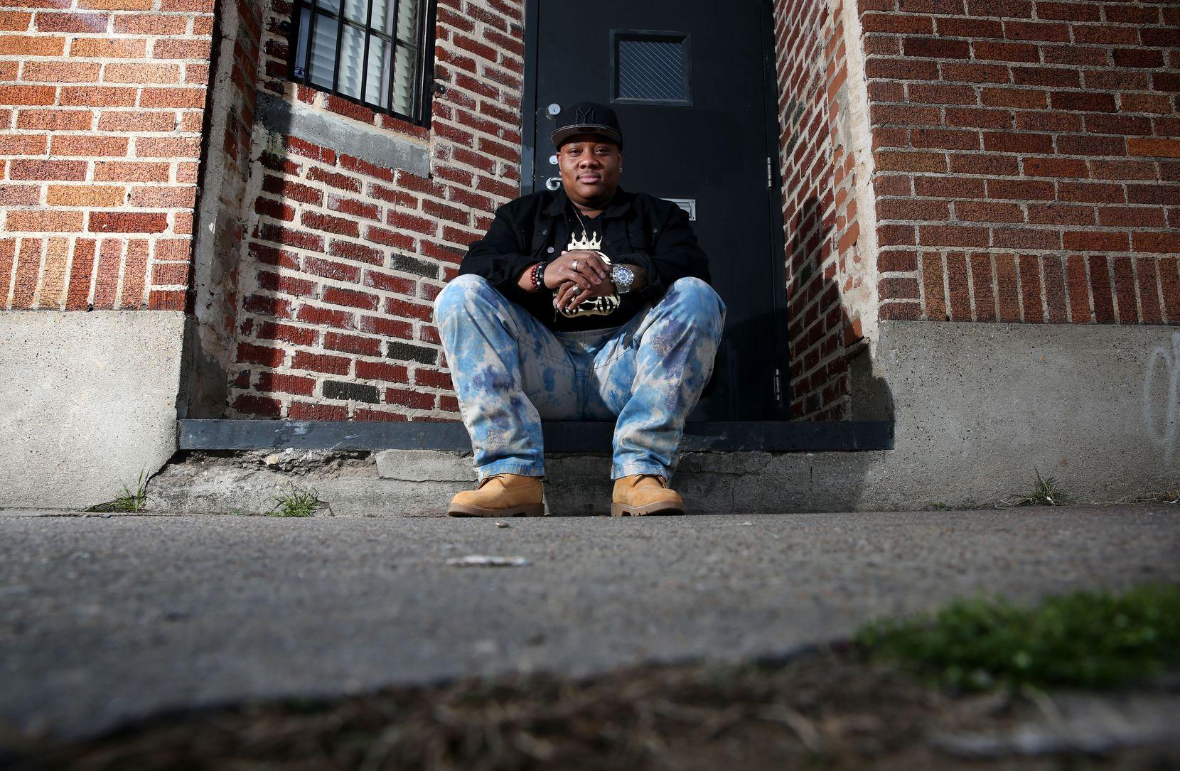 Trenton Johnson, who was recently named Mr. Black Trans Dallas. (Rose Baca/The Dallas Morning News)