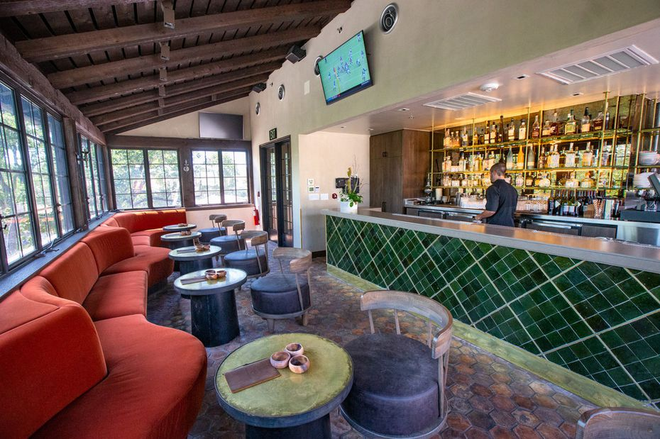 The interior of Monkey Bar is small, but there's more room out a side door to the third-story patio.