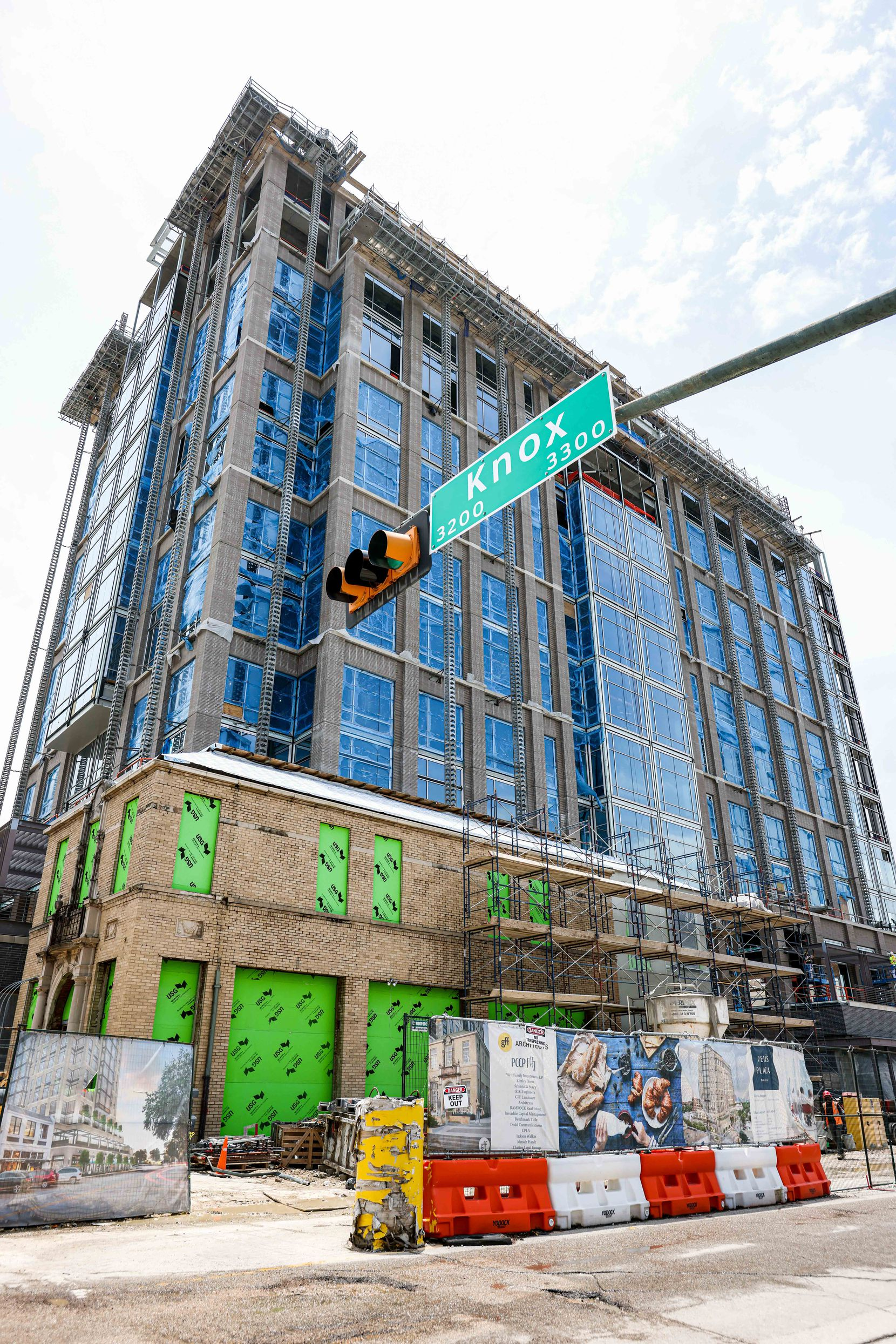 Weir's Tower, which is under construction on Knox Street in Dallas, will include a new Weir's Furniture store on two lower levels.