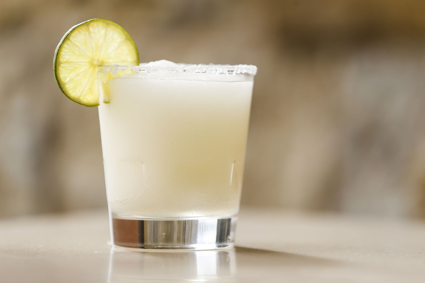 The Mi Dia Frozen Over frozen margarita with Exotico Silver and triple sec is photographed Feb. 13, 2020, at Mi Dia from Scratch restaurant in Plano.