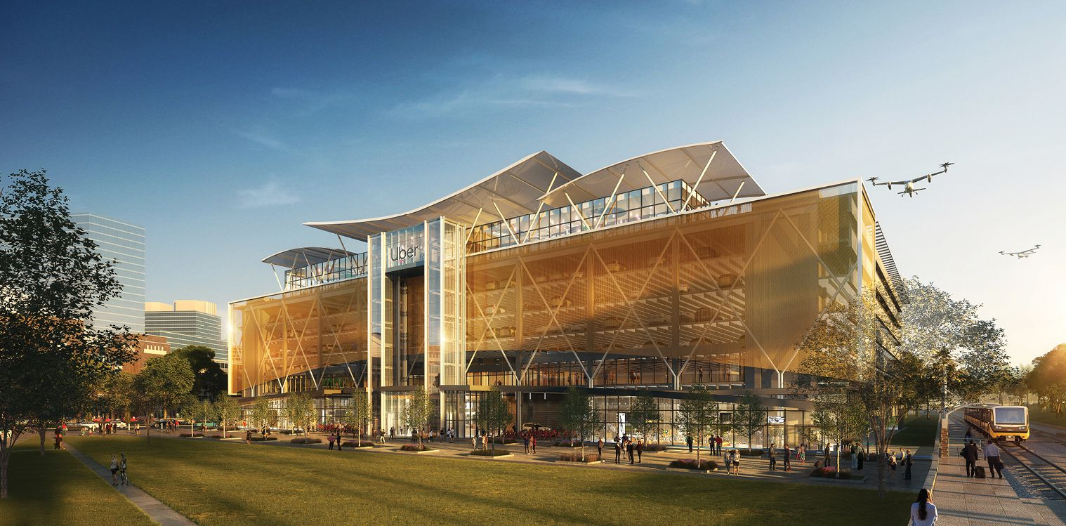 BOKA Powell's proposed Uber Elevate terminal for Dallas.