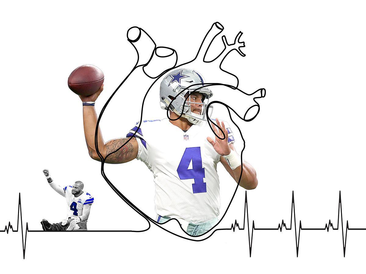 An illustration featuring Dallas Cowboys QB Dak Prescott. (Michael Hogue)
