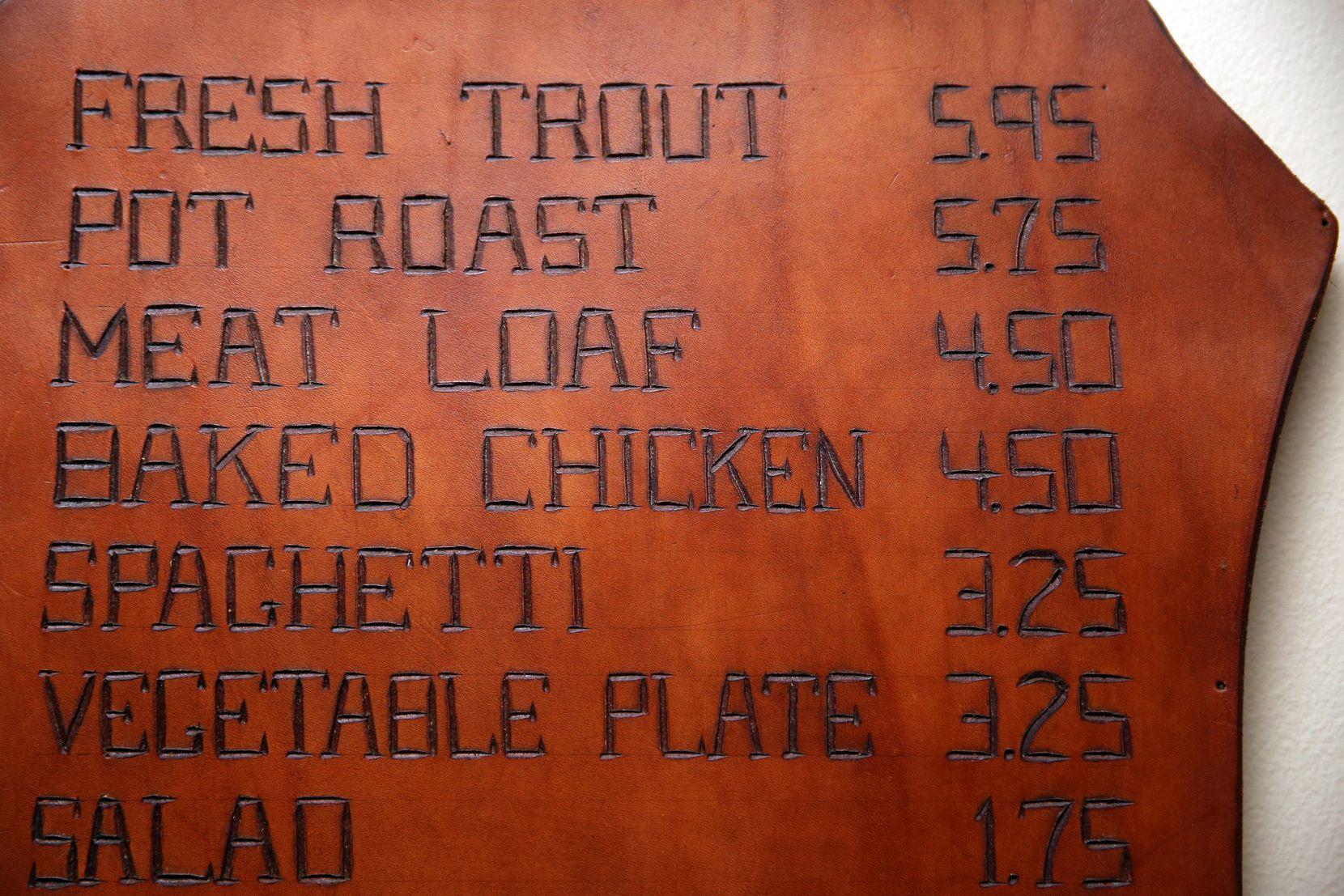 Celebration's original menus were made of leather.