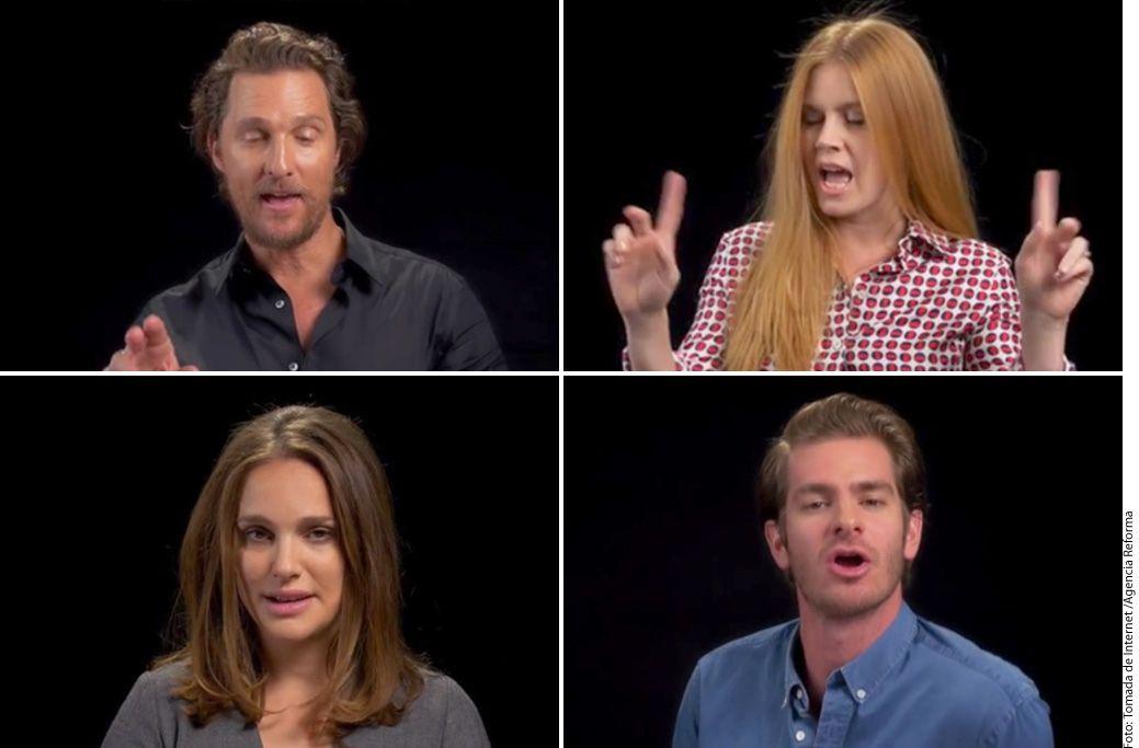 Más de 20 actores participaron en un video de W Magazine con motivo de la llegada del republicano Donald Trump a la presidencia de EU./ AGENCIA REFORMA