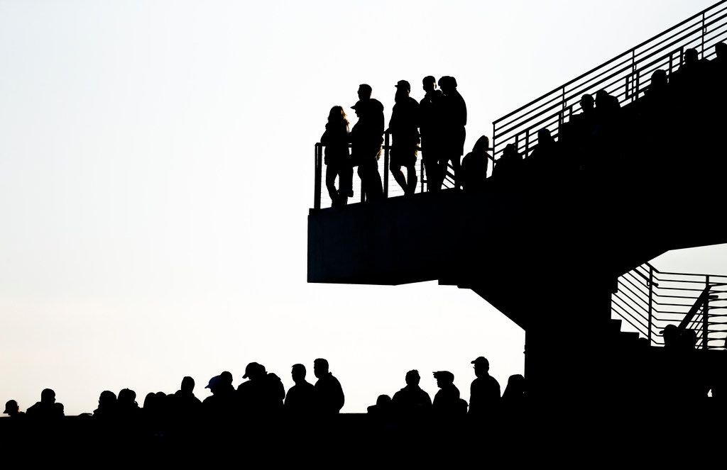 Fans fill the stands during the second half of a Class 6A Division I Region I high school football matchup between Southlake Carroll and Duncanville on Saturday, Dec. 7, 2019 at McKinney ISD Stadium in McKinney, Texas. (Ryan Michalesko/The Dallas Morning News)