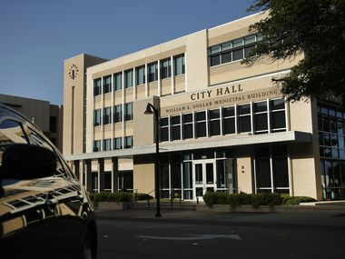 An exterior view of the William E. Dollar Municipal Building in downtown Garland, Texas is pictured in this file photo. The building also houses City Hall.