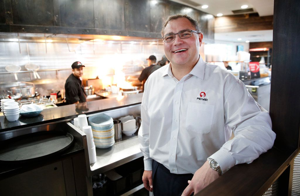Pei Wei CEO J. Hedrick poses for a photograph at a Pei Wei restaurant in Irving.