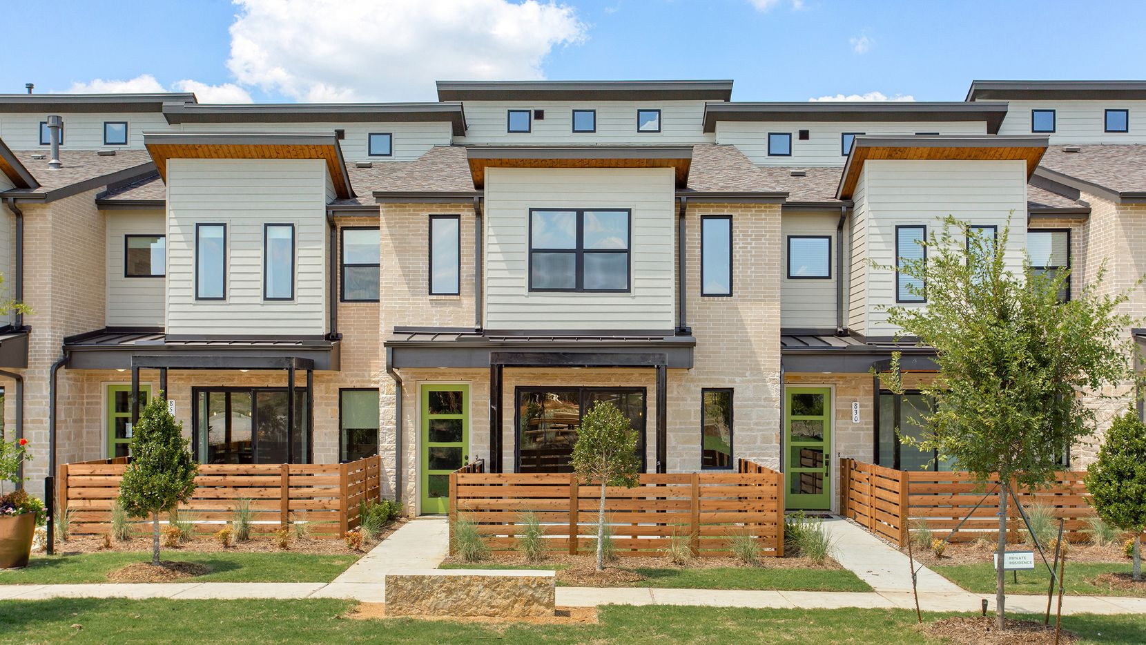 New townhomes by Grenadier Homes are ready for immediate move-in at Windsong Ranch in Prosper. They are priced from the mid-$200s.