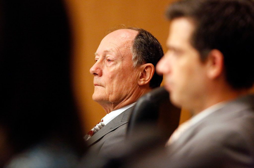 Defendant Robert Moses of Frisco listened to the closing arguments of the punishment phase of his murder trial last month in the 219th District Court at the Collin County Courthouse in McKinney. (Tom Fox/The Dallas Morning News)