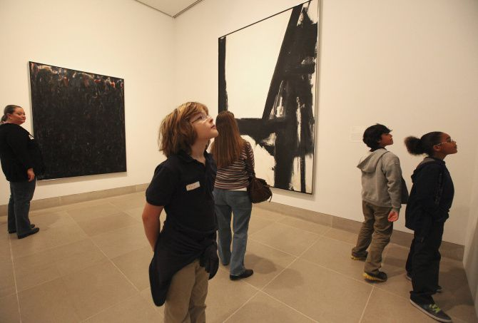 Students and parents from Hexter Elementary School toured the Dallas Museum of Art on Tuesday.  Maxwell Anderson, the museum's director, announced Tuesday  that the DMA will offer free admission and free memberships, making it the first art museum in the country to do so.