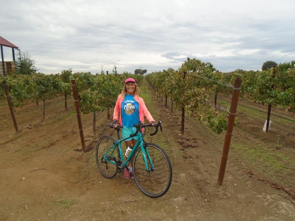 Bicycling is a great way to combine exercise, sightseeing and wine-tasting at places like Oak Farm Vineyards in Lodi wine country.
