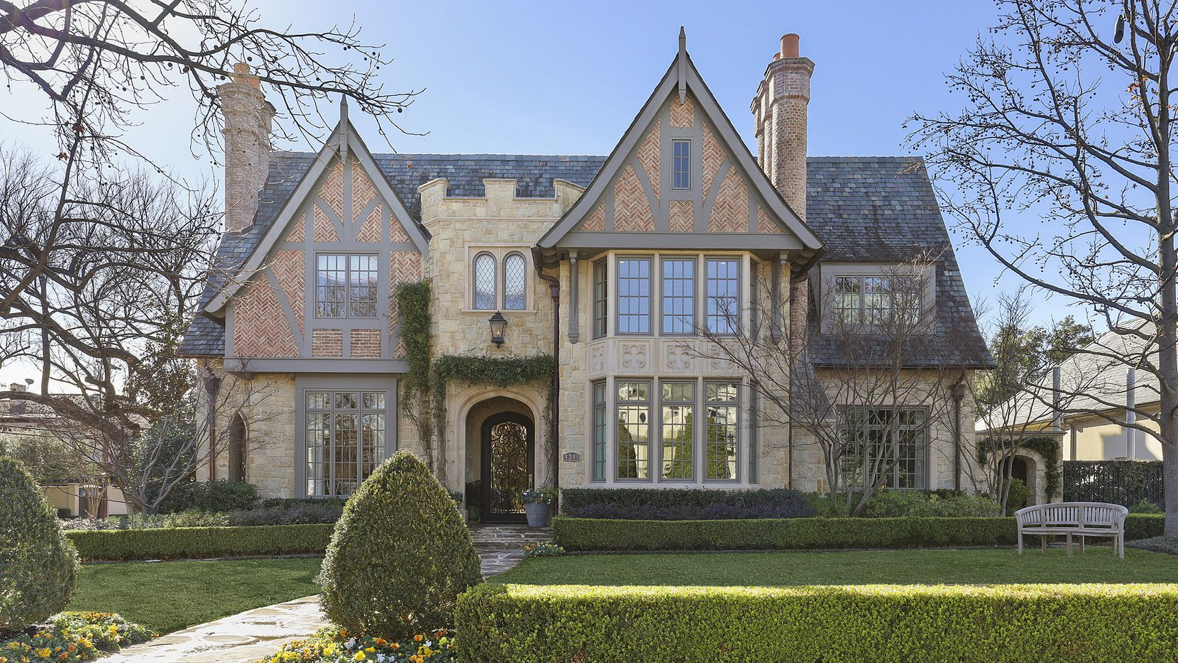 The English Tudor residence at 4301 Belclaire Ave. in Highland Park was recently refreshed by Leslie Jenkins of Jenkins Interiors.