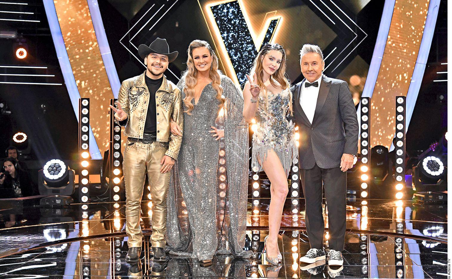 """Los coaches Christian Nodal (de izq.a der.), La Josa, Belinda y Ricardo Montaner concluyeron """"La Voz"""" el lunes."""