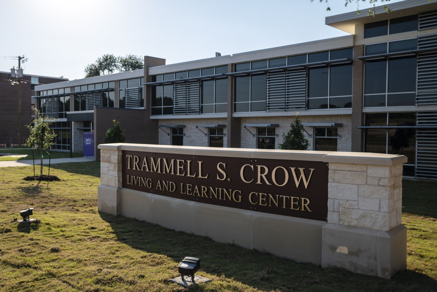 The new Trammell S. Crow Living and Learning Center on the campus of Paul Quinn College is shown during a reopening event on June 15, 2021, in Dallas. The event showcased guided tours of the new buildings on campus, vendor booths, a COVID-19 vaccine clinic and live music by the Dallas Symphony Orchestra.