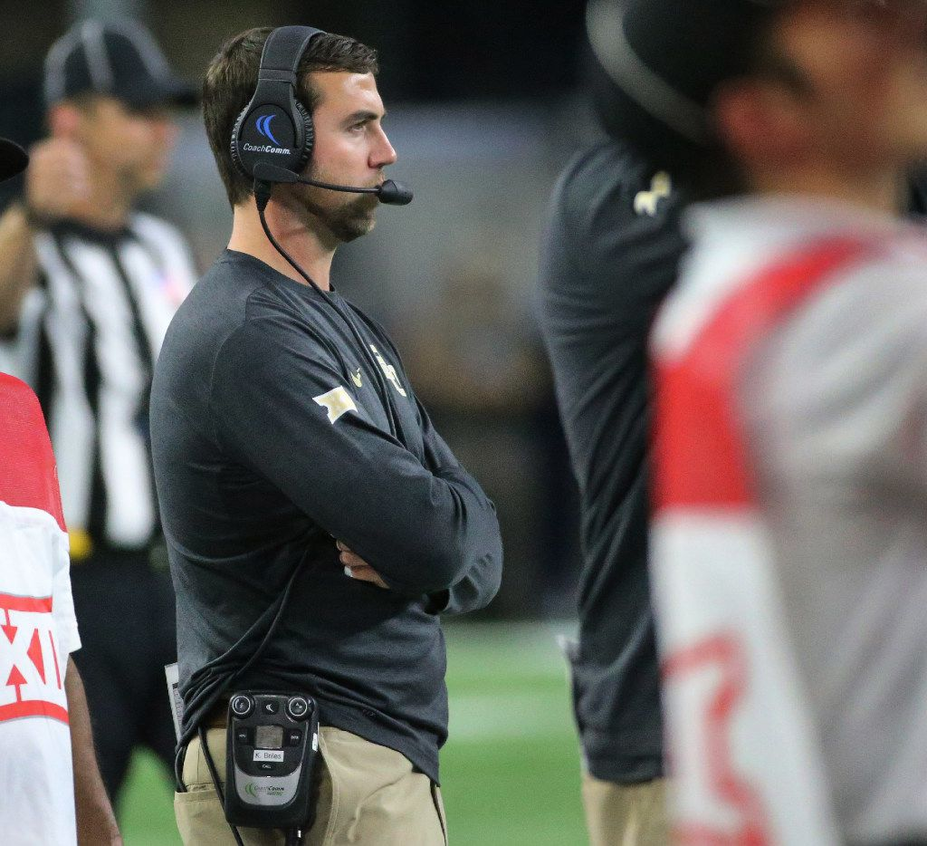 Baylor assistant coach Kendal Briles is pictured during the Baylor University Bears vs. the Texas Tech University Red Raiders NCAA football game at AT&T Stadium in Arlington, Texas on Friday, November 25, 2016. (Louis DeLuca/The Dallas Morning News)