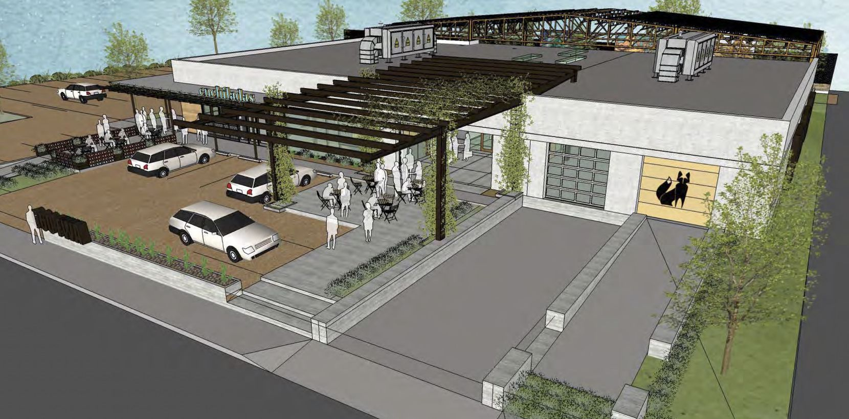 The warehouse on Fort Worth Avenue will be converted into a dining and retail venue.