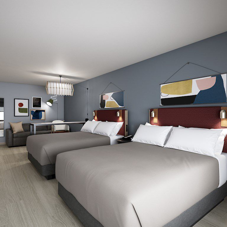 Atwell Suites rooms will be equipped with standing desks, comfortable seating and easy access to power outlets.