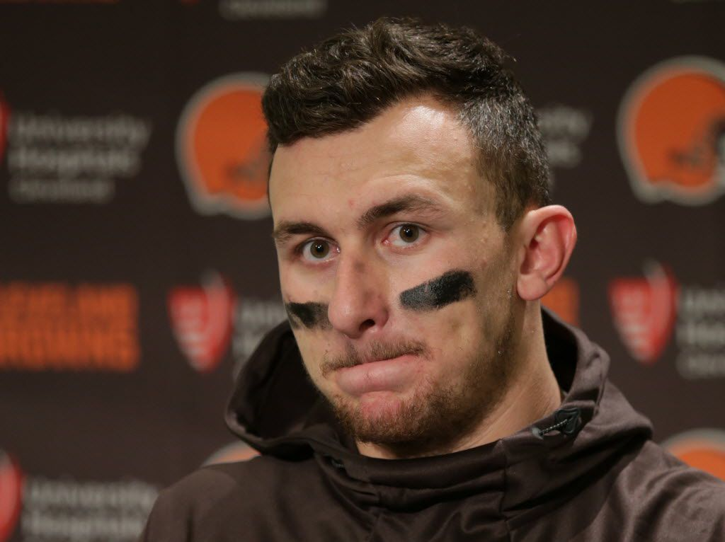 Former Texas A&M quarterback Johnny Manziel had a short-lived stint with the Cleveland Browns. (Scott Eklund/The Associated Press)