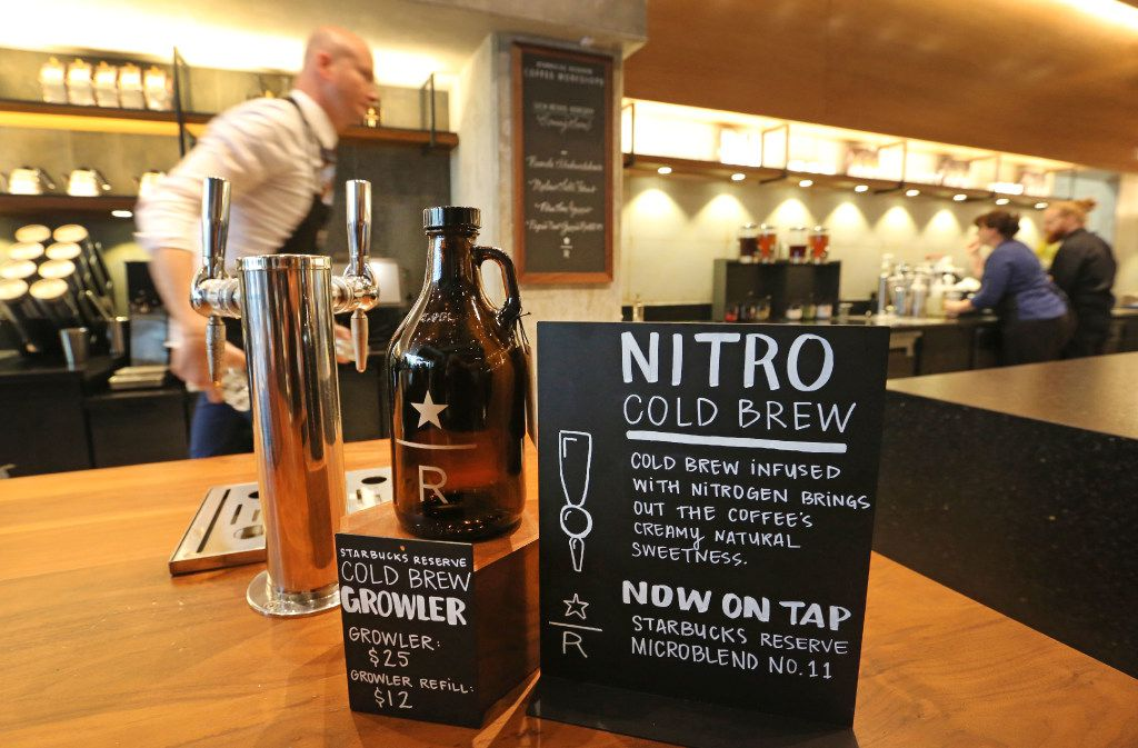 Nitro cold brew is one of the buzzy coffees at Starbucks Reserve Bar.