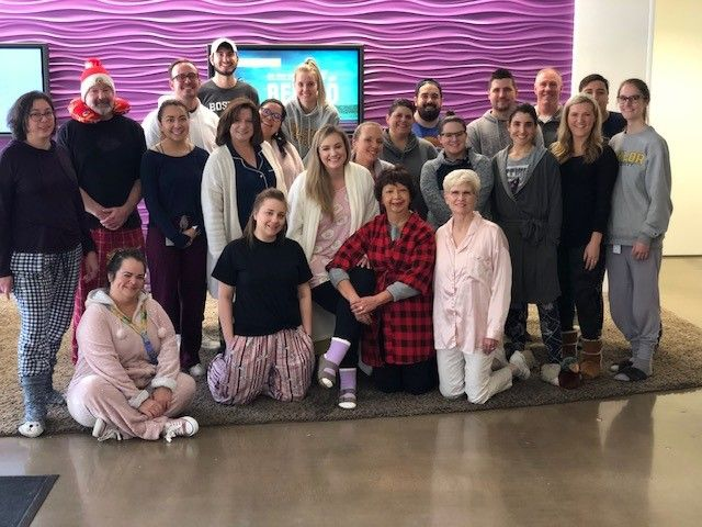Holmes Murphy & Associates' culture committee hosted a pizza and pajamas day at the office.