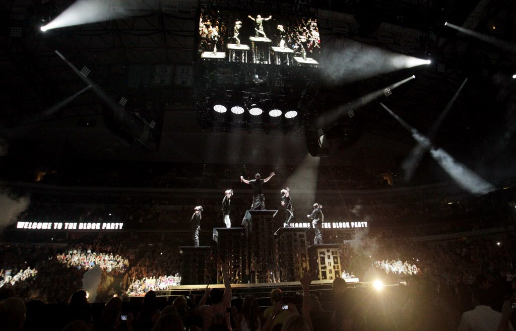 New Kids on the Block during a performance at American Airlines Center in Dallas, on Thursday, May 14, 2015.