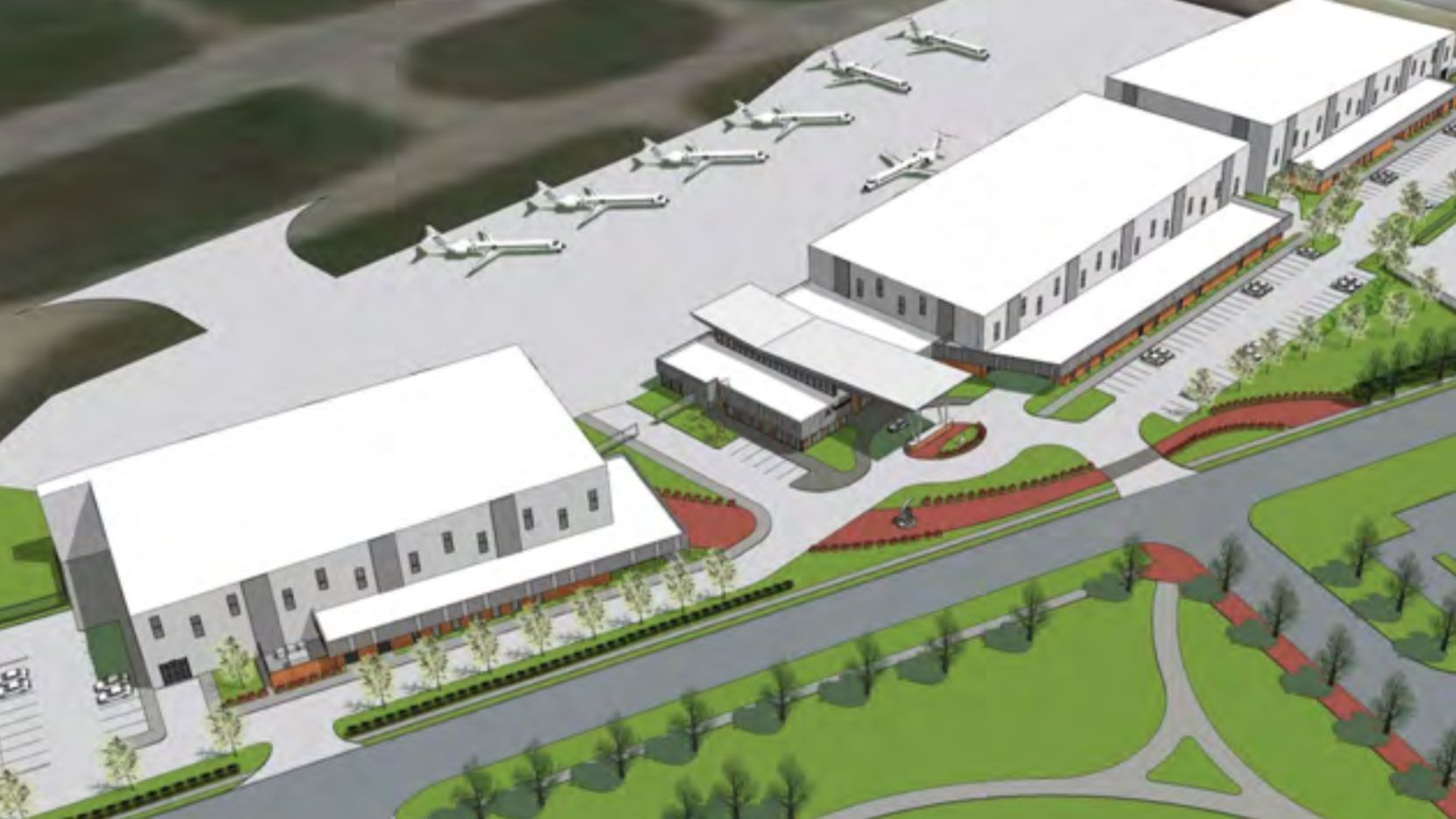 Houston-based Galaxy Aviation is planning a new terminal and hangars at Addison Airport.