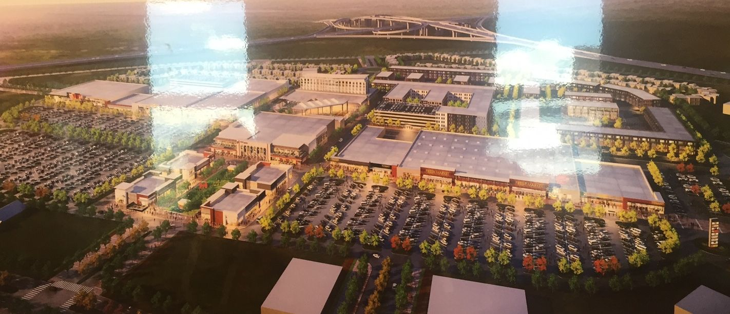Some sections of the 40-year-old mall in southwest Dallas would be demolished. (Omniplan)