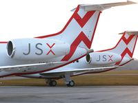 Two of the Embraer aircraft of Dallas-based carrier JSX.