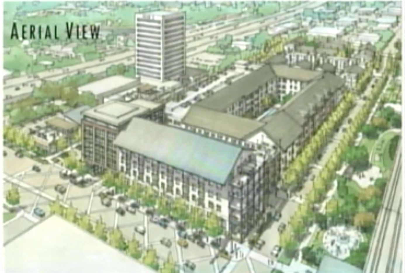 The planned Town Central development includes retail, apartments and townhomes.