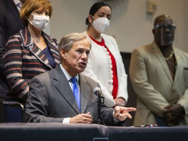 Governor Greg Abbott speaks at a press conference to announce legislative proposals related to public safety at the Dallas Police Association in Dallas Sept. Thursday, 24, 2020 . (Juan Figueroa/ The Dallas Morning News)