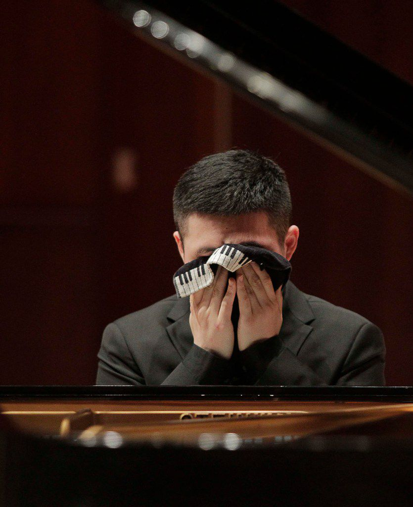 Xiaoxuan Li from China performed during the Quarterfinal round on June 2 as part of the Cliburn International Junior Piano Competition and Festival in Caruth Auditorium on the campus of SMU in Dallas.