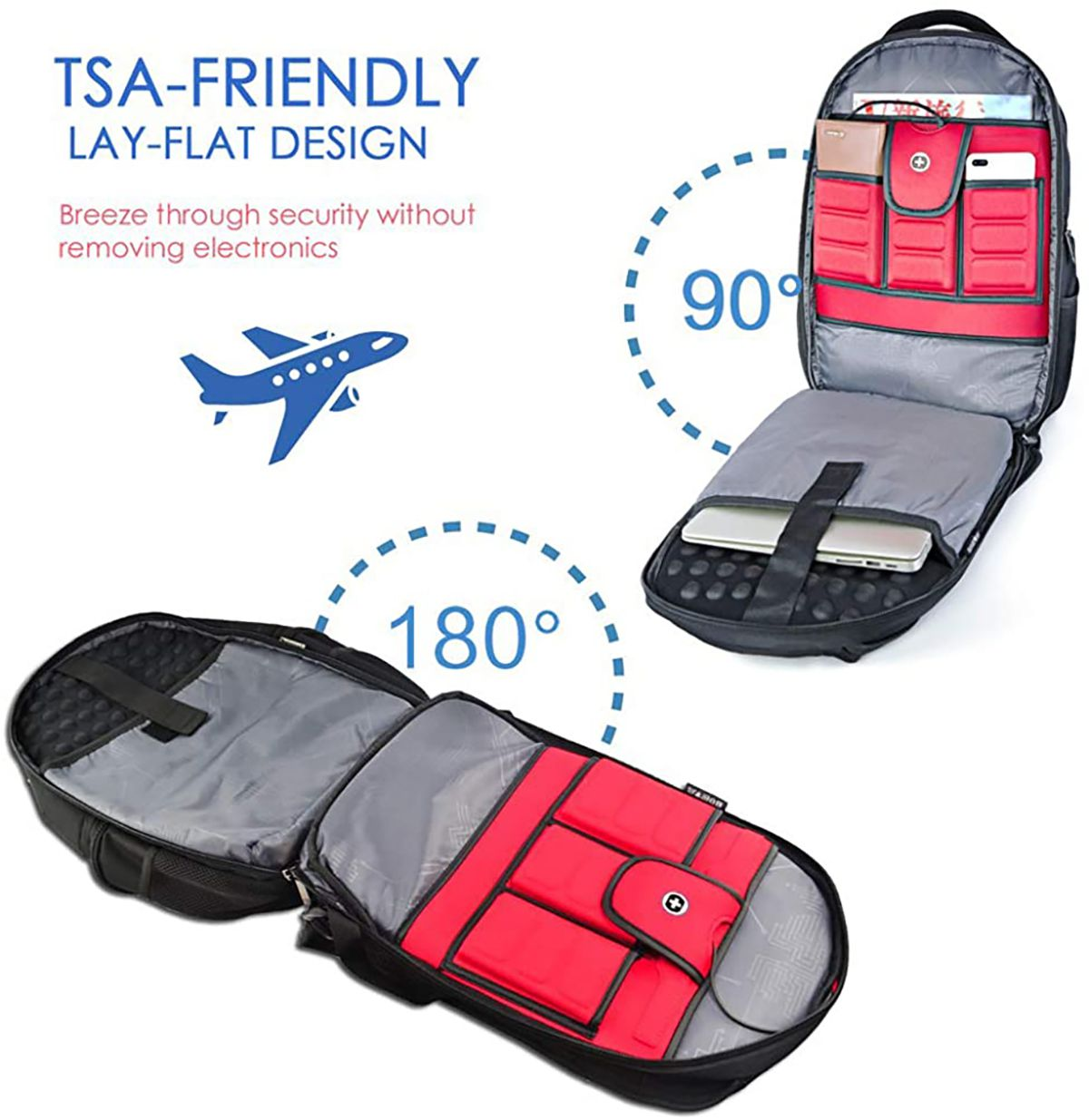 The Swissdigital Circuit Business Travel Backpack is TSA compliant.
