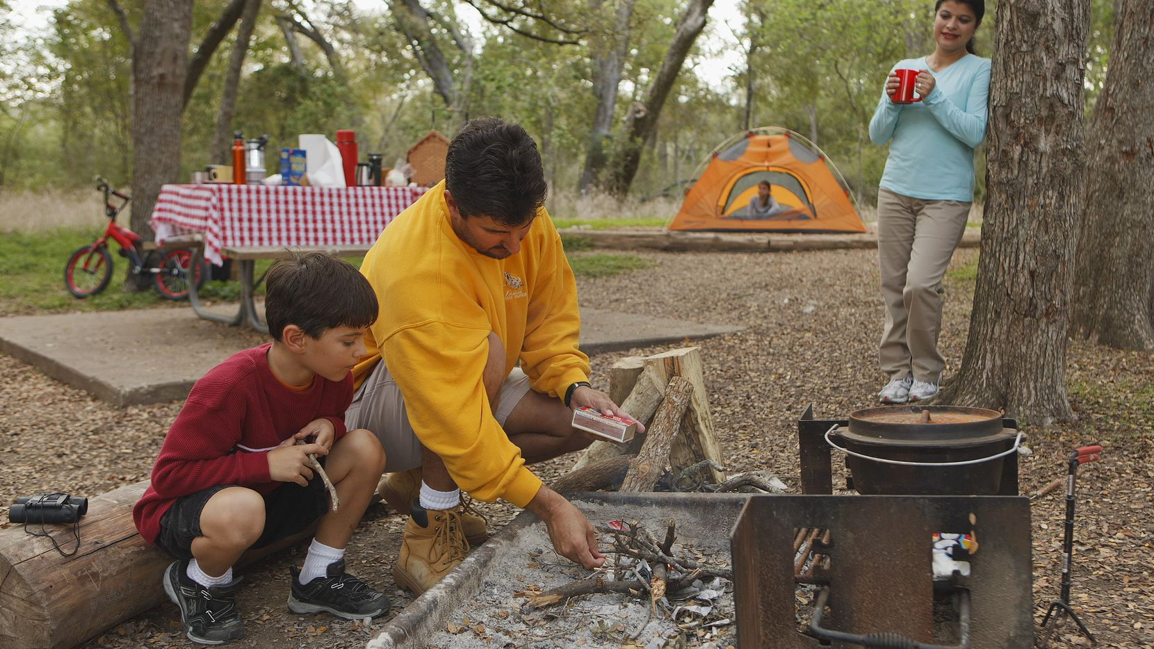 Family fun on a budget: camping at a state park.