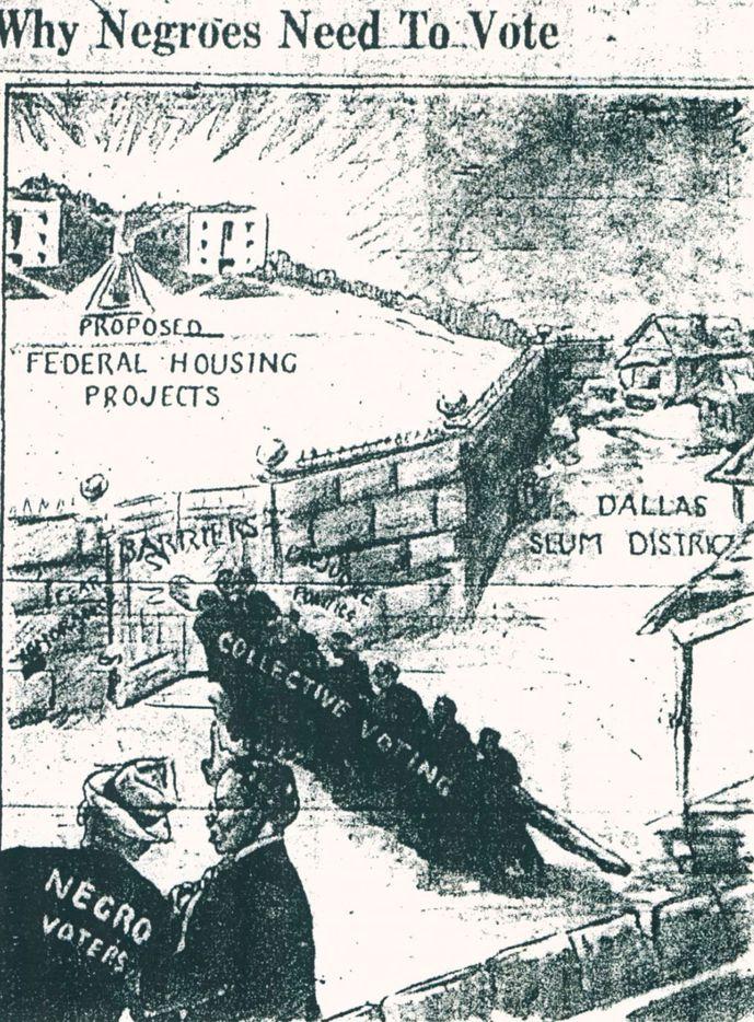 Cartoon published in The Dallas Express on April 1, 1939.