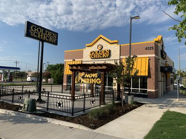 The new Golden Chick in Mesquite, set to open Aug. 17, is on the site of a previous Golden Chick that was torn down to allow construction of the new, more modern building.
