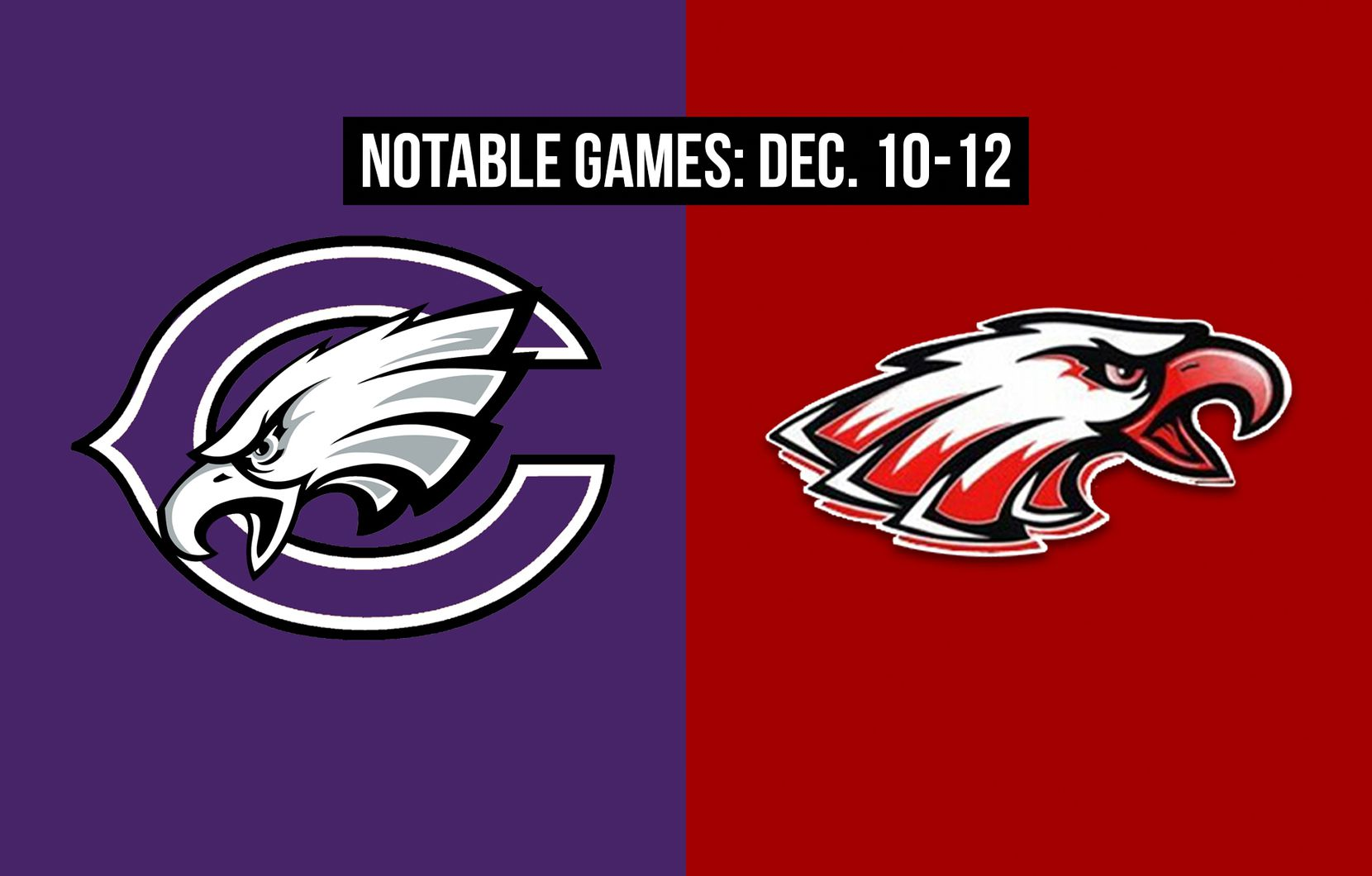 Notable games for the week of Dec. 10-12 of the 2020 season: Canyon vs. Argyle.
