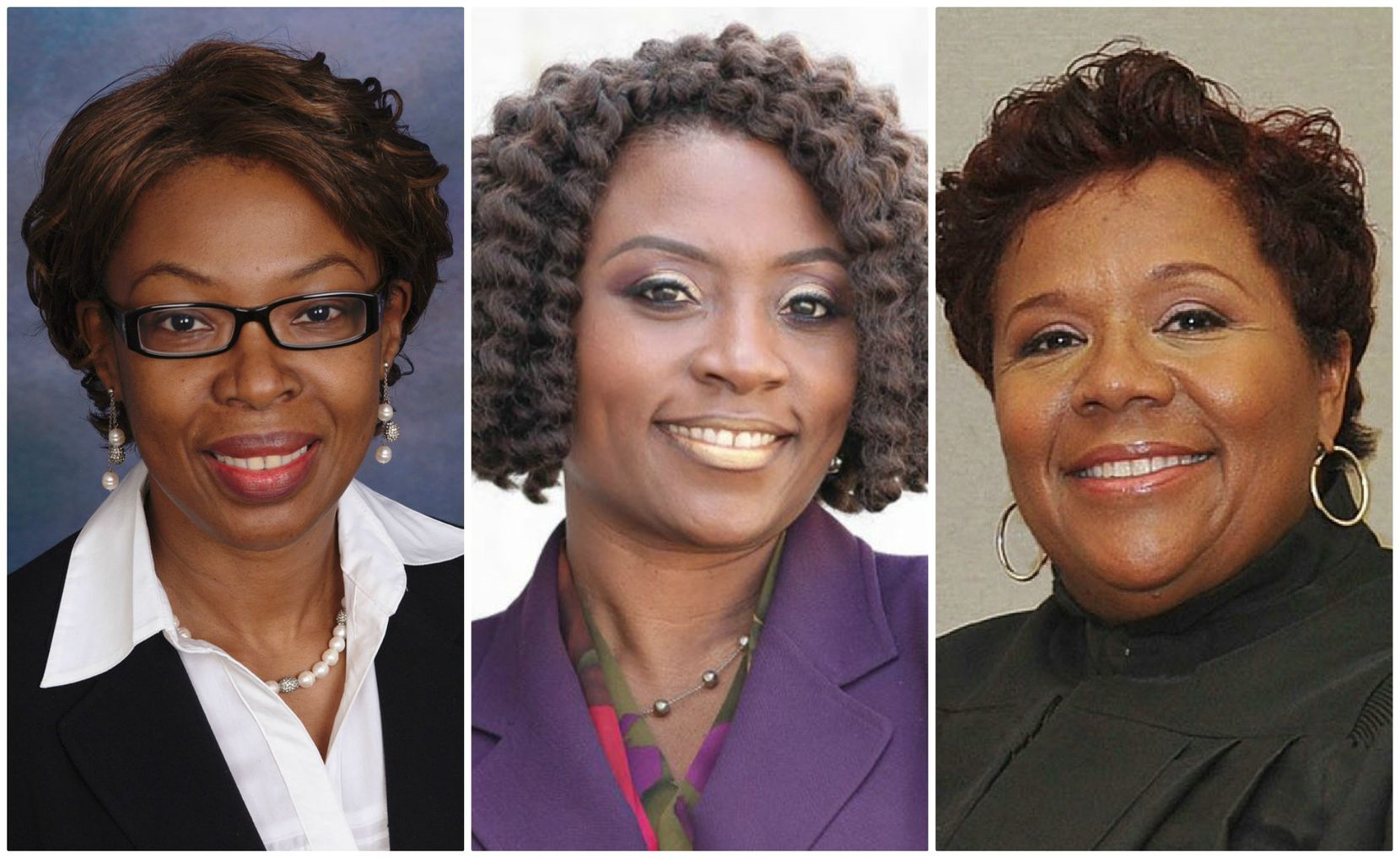 "From left: Judges Chika Anyiam of CDC 7, Raquel ""Rocky"" Jones of 203rd District Court and Lela Mays of 283rd District Court"