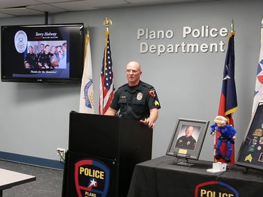 Plano Police Sgt. Terry Holway talked about his retirement in a video from the department.