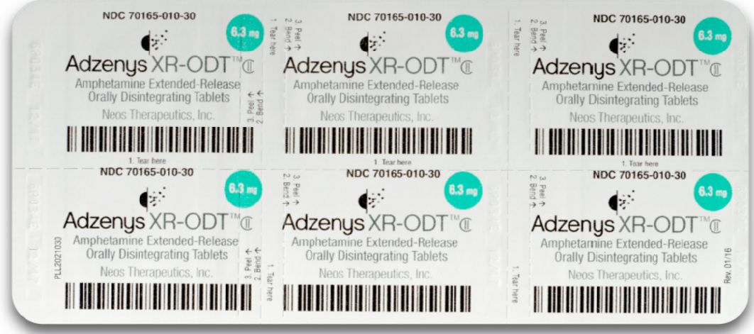 One of Neos Therapeutics' main products is Adzenys XR-ODT, a drug to treat patients with attention deficit hyperactivity disorder.