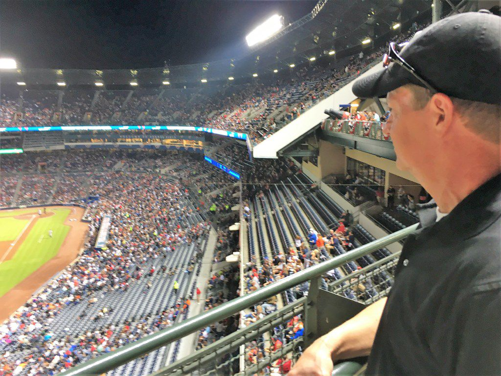 Jeff Pike, 55, of Marietta, Ga., watched his favorite team, the Detroit Tigers, defeat the Atlanta Braves at Turner Field on Sept. 30. Pike watches several Braves games each season and plans to keep doing that at SunTrust Park in  Cobb County, which is closer to where he lives.