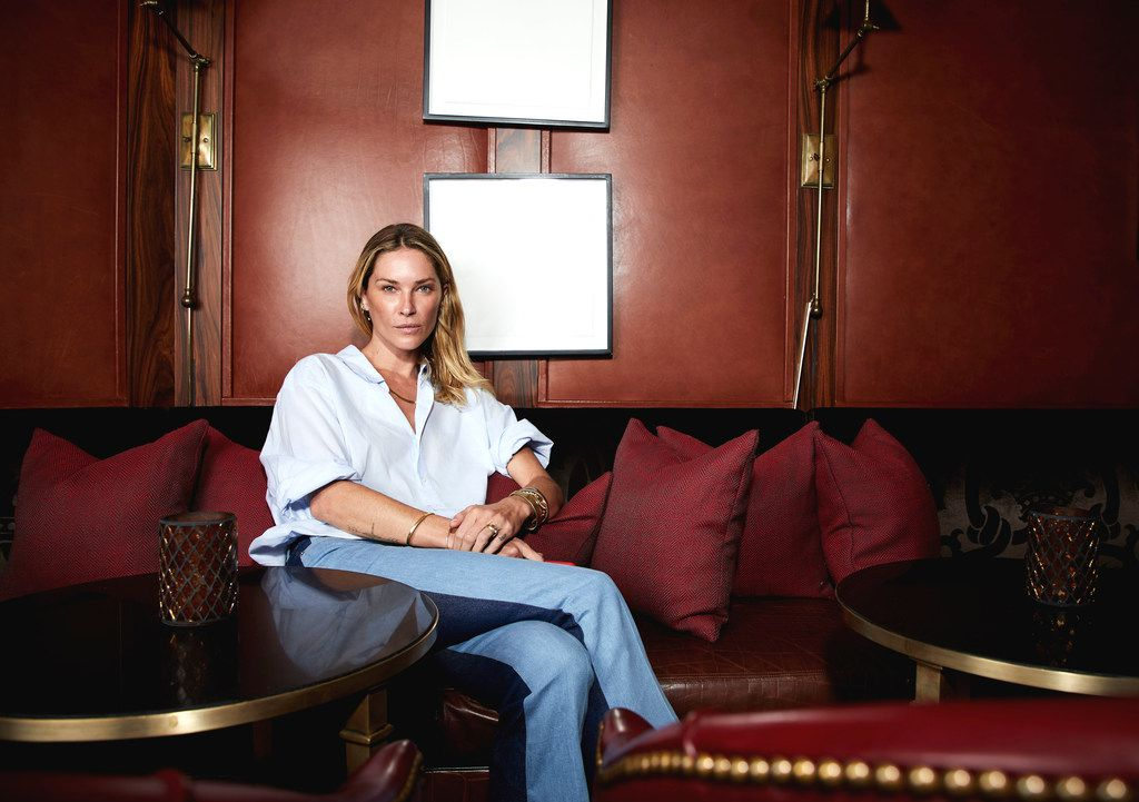 Irving-born model Erin Wasson, photographed exclusively for The Dallas Morning News at Rosewood Mansion on Turtle Creek