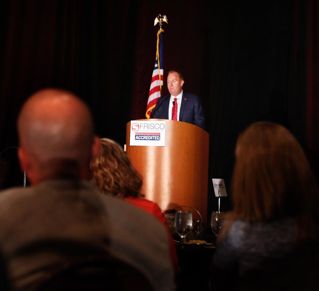 Frisco's mayor, Jeff Cheney, talked about his 100 Day Plan at the State of the City luncheon soon after his election in 2017.