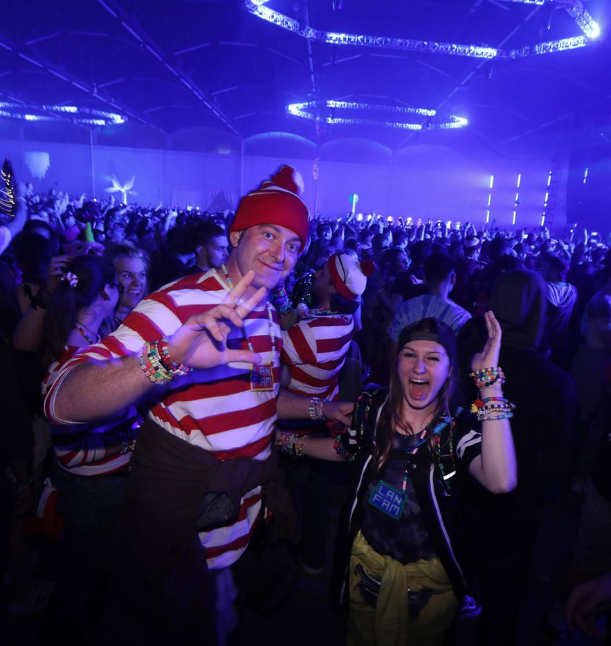 Guests enjoy the music during the Lights All Night music festival at Dallas Market Hall in Dallas, TX, on Dec. 29, 2017.