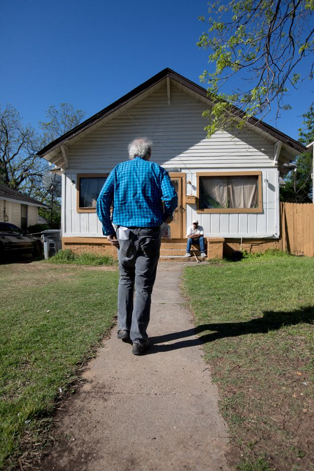 Guy Reynolds delivers a Meals on Wheels route in South Dallas on Thursday, March 30, 2017.