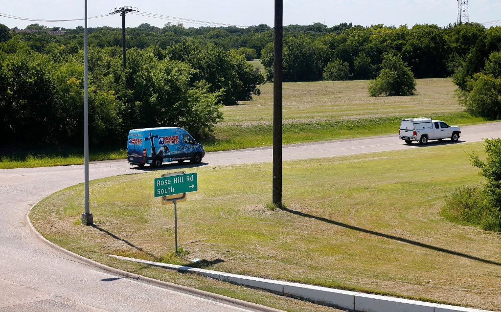 Acres of undeveloped land sit along Interstate 30 at Rose Hill Rd. in Garland. A plan to turn the bizarre and tattered history of Garland's Interstate 30 corridor into a component of its rebirth gained unanimous City Council approval on Tuesday.